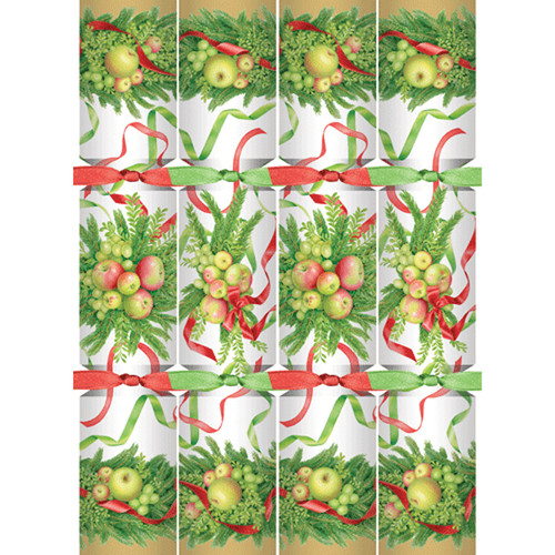 Apples and Greenery Celebration Christmas Crackers - 8 Per Box (CK106)