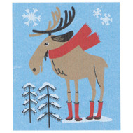 Swedish Dishcloth - Moose In Boots (70140)