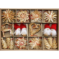 Straw Ornament Assortment - 45 Pc's (H1-3510)