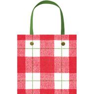 """Plaid Check Small Square Gift Bag - 1 Each - 5"""" X 5"""" (9725B1)"""