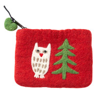 Felt Coin Purse - Forest Red - Klippan (590456)