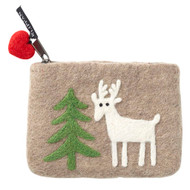 Felt Coin Purse - Forest Beige - Klippan (590455)