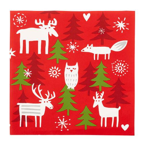 Christmas Forest Paper Luncheon Napkins - 20 Pk - Bengt & Lotta (610080)