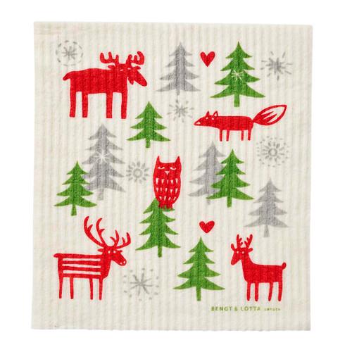Swedish Dishcloth - Christmas Forest - Bengt & Lotta - Klippan (600397)