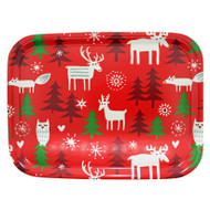 "Christmas Forest Birch Wood Tray - 10.5"" - Bengt & Lotta - Klippan"