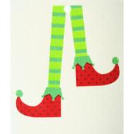 Swedish Dishcloth - Elf Stockings (56553)
