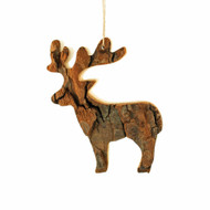"Bark Deer Ornament - 4"" (290401)"