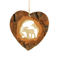 "Bark Moose Oval Ornament - 3"" (290366)"