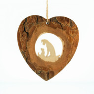 "Dog and Cat Heart Bark Ornament - 3"" (2903710)"