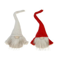 "Red and White Tomte Santa with Long Hat - Set of 2 - 6 1/2"" Tall (72916)"
