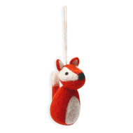 "Fox Felt Ornament - 3.5"" Tall - En Gry & Sif (8497761)"