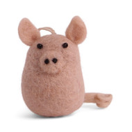 "Lucky Pig Felt Ornament - 3.5"" Tall - En Gry & Sif (15429)"