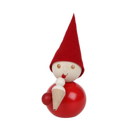 """Tonttu Christmas Elf - Jaatelo - Ice Cream Cone- 11cm - 4.3"""" (B7009)"""