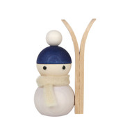 "Tonttu Christmas Skier Elf - Talvikaveri Hiihtaja - Blue - 8cm - 3.2"" (B7036)"
