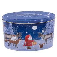 Christmas Santa and Moon Vanilla Fudge Tin - 300 g - 10.5 oz (MOON17)