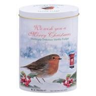 Christmas Robin Vanilla Fudge Tin - 250 g - 8.8 oz (CRT1)