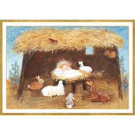 Christmas Manger Small Boxed Christmas Cards - 16 Cards & 16 Envelopes (89110)