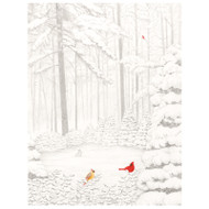 Cardinals in Snowy Woods Boxed Christmas Cards - 16 Cards & 16 Envelopes (89221)