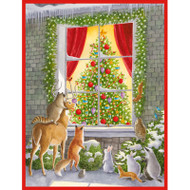Woodland Animals at Window Boxed Christmas Cards - 16 Cards & 16 Envelopes (89224)