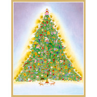 Tree with Toys Boxed Christmas Cards - 16 Cards & 16 Envelopes (89230)