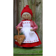 "Tomte Mor w/Heart Basket - Butticki - 6"" (13187)"
