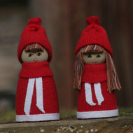 "Tomte Santa Boy and Girl Set - Butticki - 2.5"" (13179)"