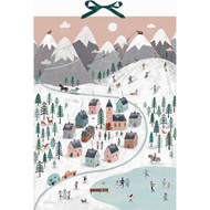 "Mountain Village Advent Calendar w/Pop-Up Decoration - 14"" x 19"" (94961)"