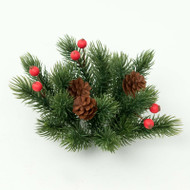 "Candle Ring - Berries and Pine Cones - 3"" (E370-GR)"