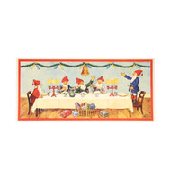 "Christmas Poster - Tomtar Julbord Table - Small - 8 1/2"" X 17 3/4"" (BKP30)"