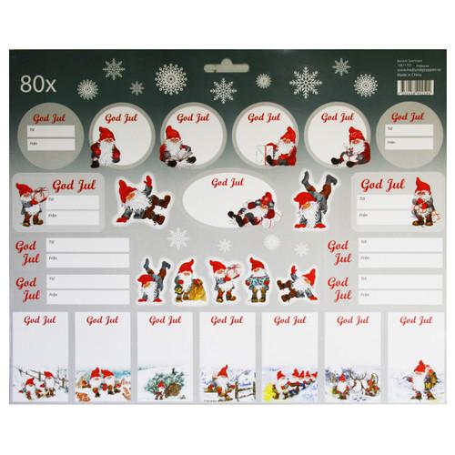 Christmas God Jul Stickers - 80 Sticker Pack (16671701A)