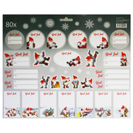 Christmas God Jul Stickers - 80 Sticker Pack (16671701A)