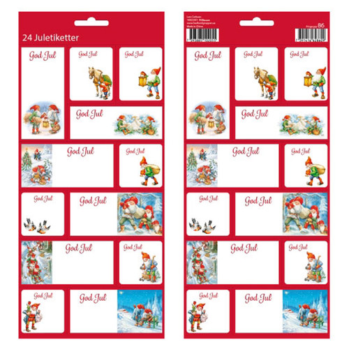 Christmas God Jul Stickers - 24 Sticker Pack (16923301)
