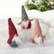 "Scandinavian Fabric Gnomes with Tall Hat - 5""- Assorted Colors - Set of 3 (8480)"