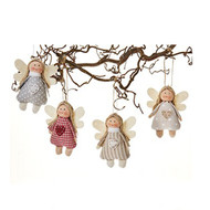 Fabric Angel Ornaments - Set of 4 (8621)