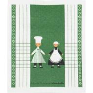 Swedish Dishcloth - Kokspolka Green (70143)