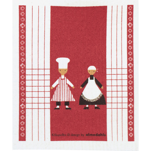 Swedish Dishcloth - Kokspolka Red (70144)