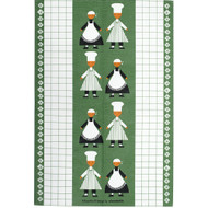 Tea Towel/Kitchen Towel - Kokspolka Green (100546G)