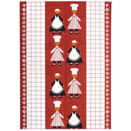 Tea Towel/Kitchen Towel - Kokspolka Red (100546R)