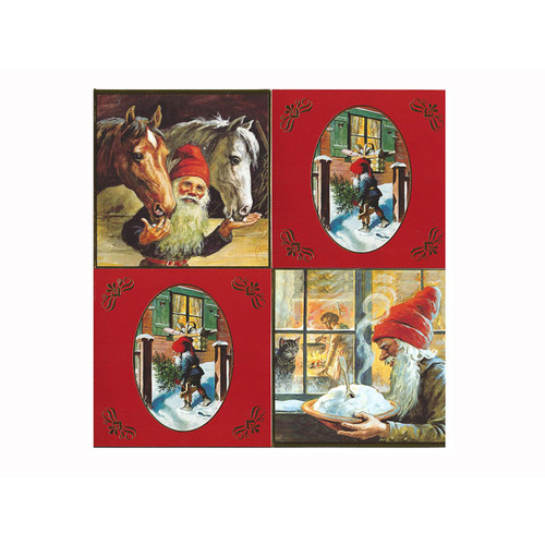 Christmas Cards - 4 Pack Assorted - Jenny Nystrom (222)