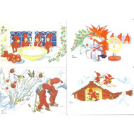 Christmas Post Cards - Set of 4 - Aina Stenberg (AS-1)