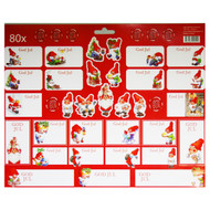 Christmas God Jul Stickers - Red - 80 Sticker Pack (16671701B)
