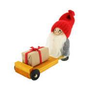 "Tomte Santa with Gift on Cart - 5"" (21903)"