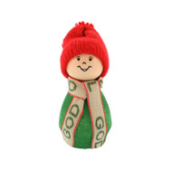 "Tomte Santa with God Jul Scarf - Green - 3.5"" (21909)"