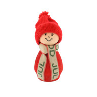 "Tomte Santa with God Jul Scarf - Red - 3.5"" (21908)"
