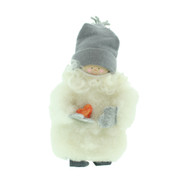 "Tomte Santa Boy with Wooden Heart - 5"" (17023)"