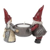 "Tomte Santa Couple Tealight Candle Holder - 3.5"" (7503)"