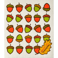Swedish Dishcloth - Acorns and Leaf (70145)