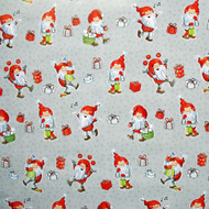 "Christmas Wrapping Paper - Happy Santas - 23"" x 72"" (23881)"