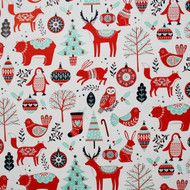"Christmas Wrapping Paper - Nordic Folk - 23"" x 72"" (21311P)"