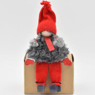 """Tomte Girl with Red Cap - Sitter - 4.5"""" (7050)"""